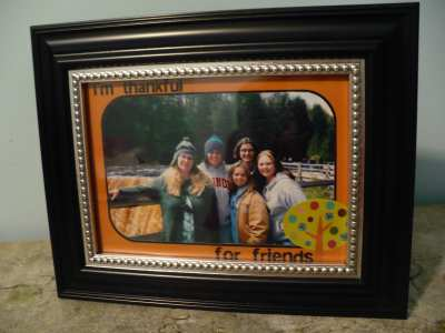 Printable Thanksgiving Picture Frame 3 Uses Dollar Store Crafts