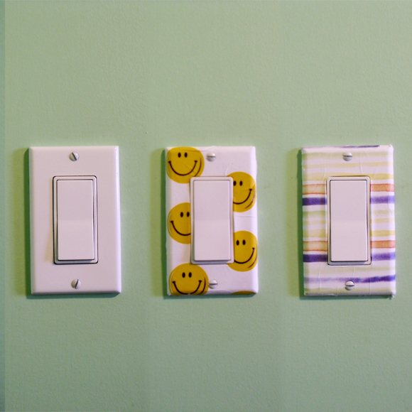 Man Crafts Patterned Light Switch Covers Dollar Store Crafts