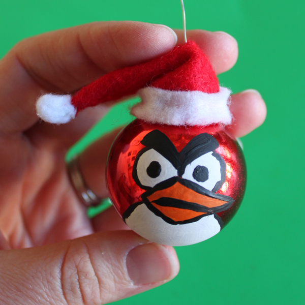 My boys are avid fans of the game Angry Birds. They love to play it on  Daddy's phone — however, they truly enjoy the whole concept of the game, ... - Angry Birds -- Christmas Ornaments! » Dollar Store Crafts