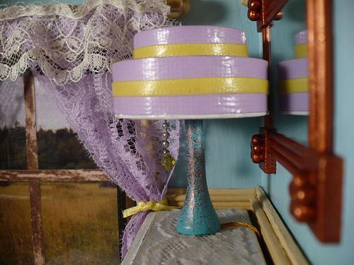 Art Deco Dollhouse Lamp by Rhonda