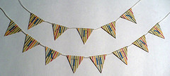 Miniature Dollhouse Birthday Bunting by Rhonda Greene