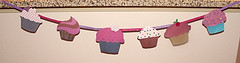 Sparkly Cupcake Bunting by Melinda Hileman