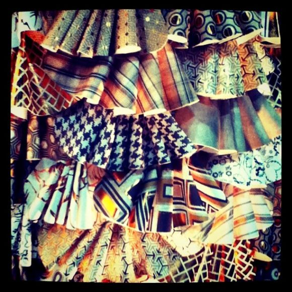 Paper dress ruffles