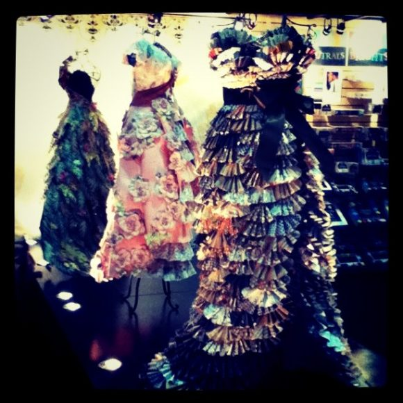 paper dress  runway at cha