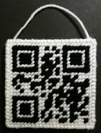 Plastic Canvas QR code