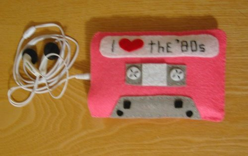 80s cassette tape ipod case