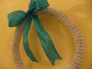 Textured Shelf Liner Winter Wreath by Rhonda Greene