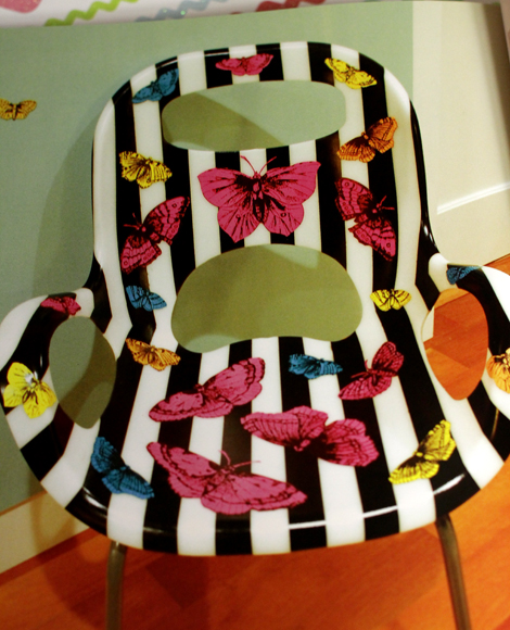 Striped Butterfly Chair