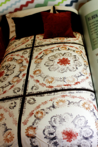 Block Printed Suzani Blanket