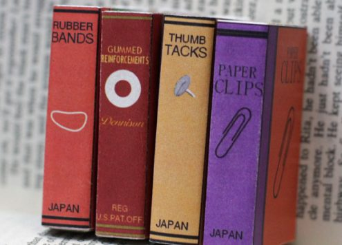 mini book cover matchboxes