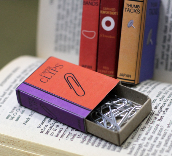 mini book cover matchbox