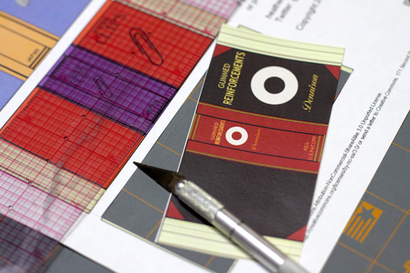 mini book cover matchbox step 1