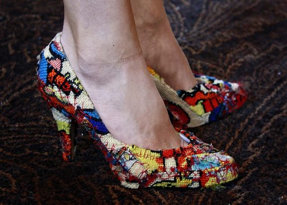 needlepoint pumps