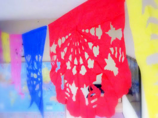 make papel picado tissue paper flags dollar store crafts