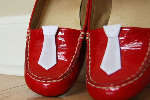 Necktie Shoe Clips