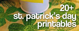 20 st patricks day printables