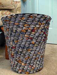 Rhonda's Woven Wastebasket