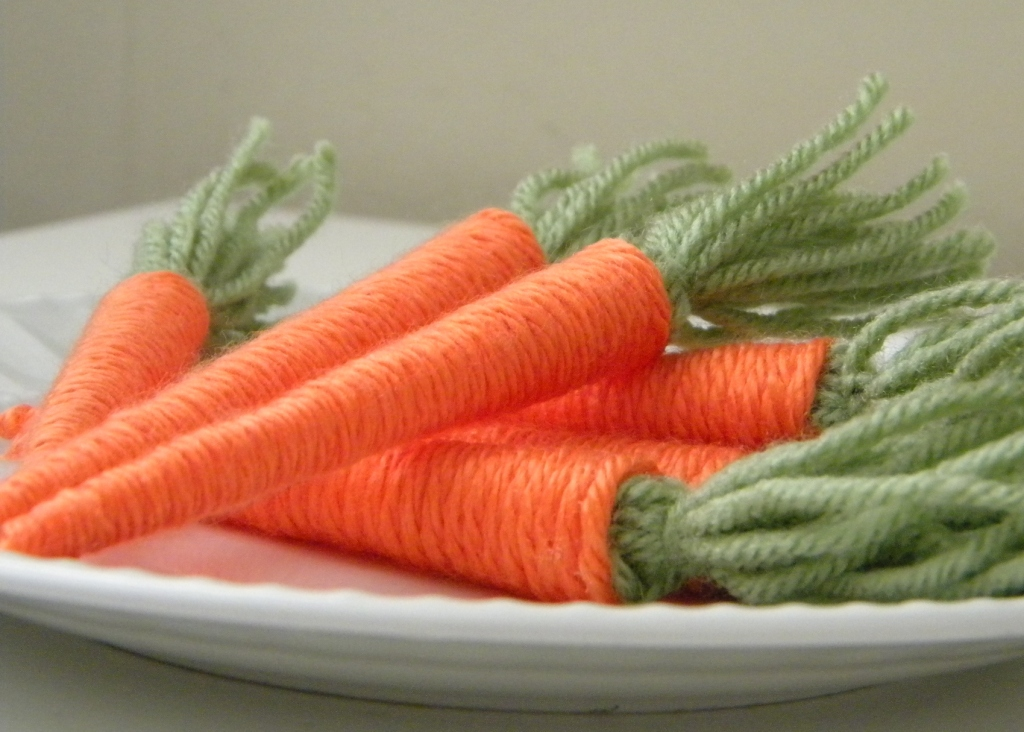 Yarn Crafts : Dollar Store Crafts ? Blog Archive ? Make Yarn Baby Carrots