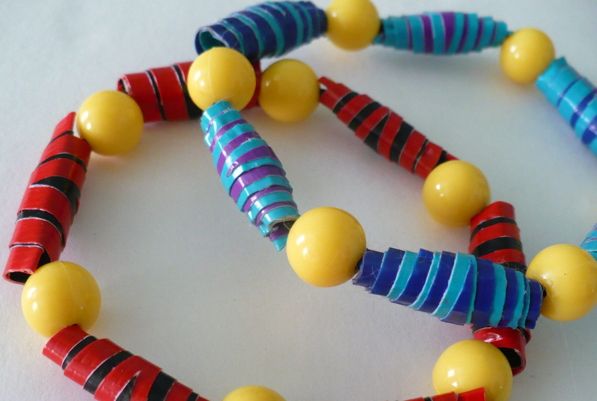 Make a rolled duct tape bead bracelet dollar store crafts for How to make beads craft