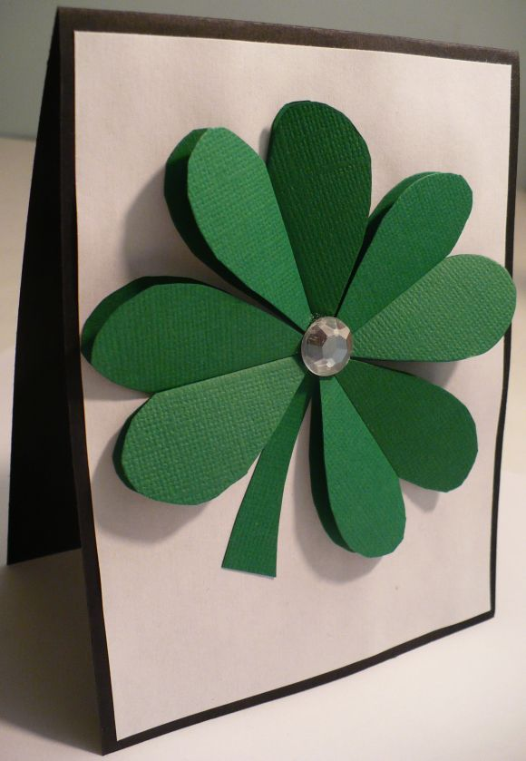 no matter your paper craft of choice this 3d paper shamrock ...
