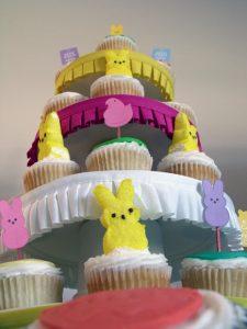 PEEP Cupcake Tower