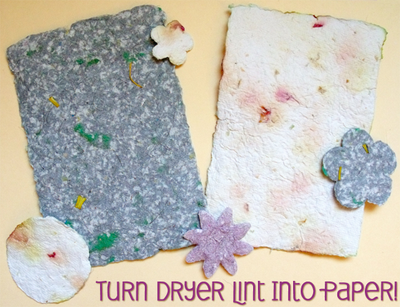 Turn Dryer Lint Into Paper