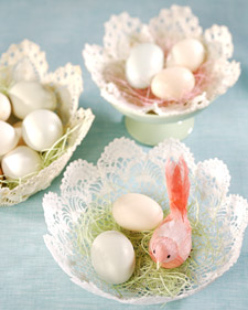 Doily Easter Basket