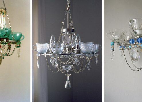 kitchen dish chandeliers