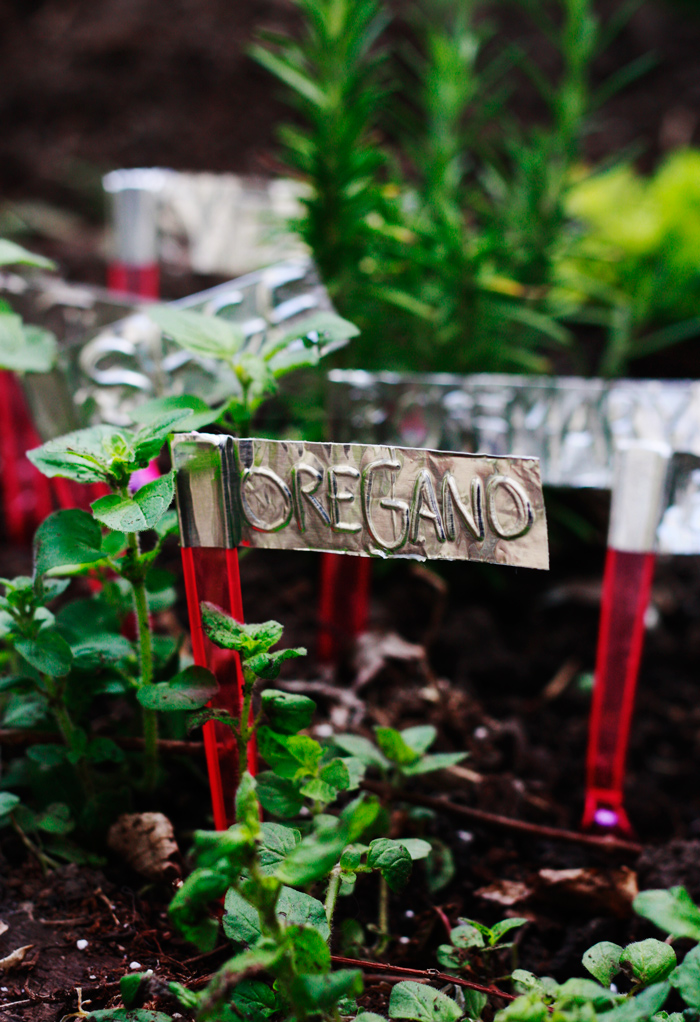 Make Aluminum Tape Garden Markers Dollar Store Crafts