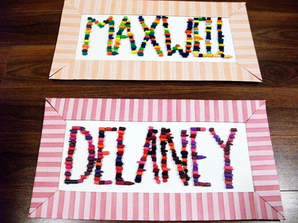 crayon name craft