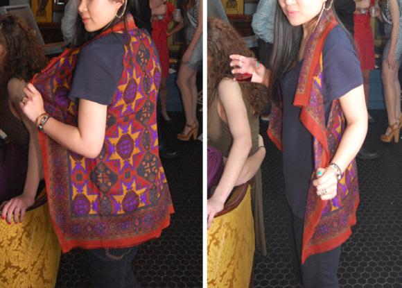 scarf vest