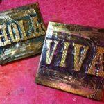 embossed metal plaque