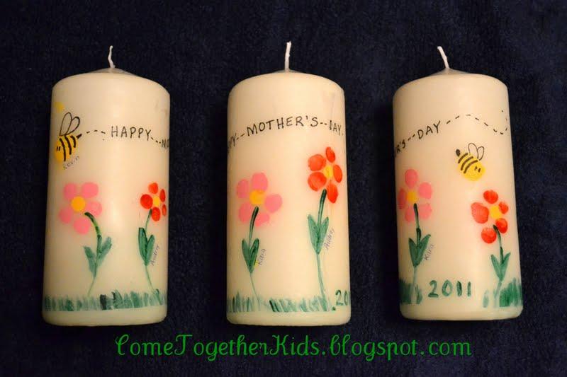 Make Mother's Day Fingerprint Candles » Dollar Store Crafts