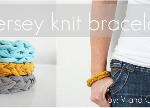 recycled t-shirt knit bracelet
