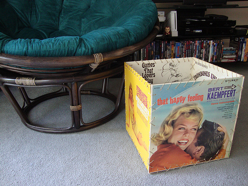 make a record album cover box dollar store crafts. Black Bedroom Furniture Sets. Home Design Ideas