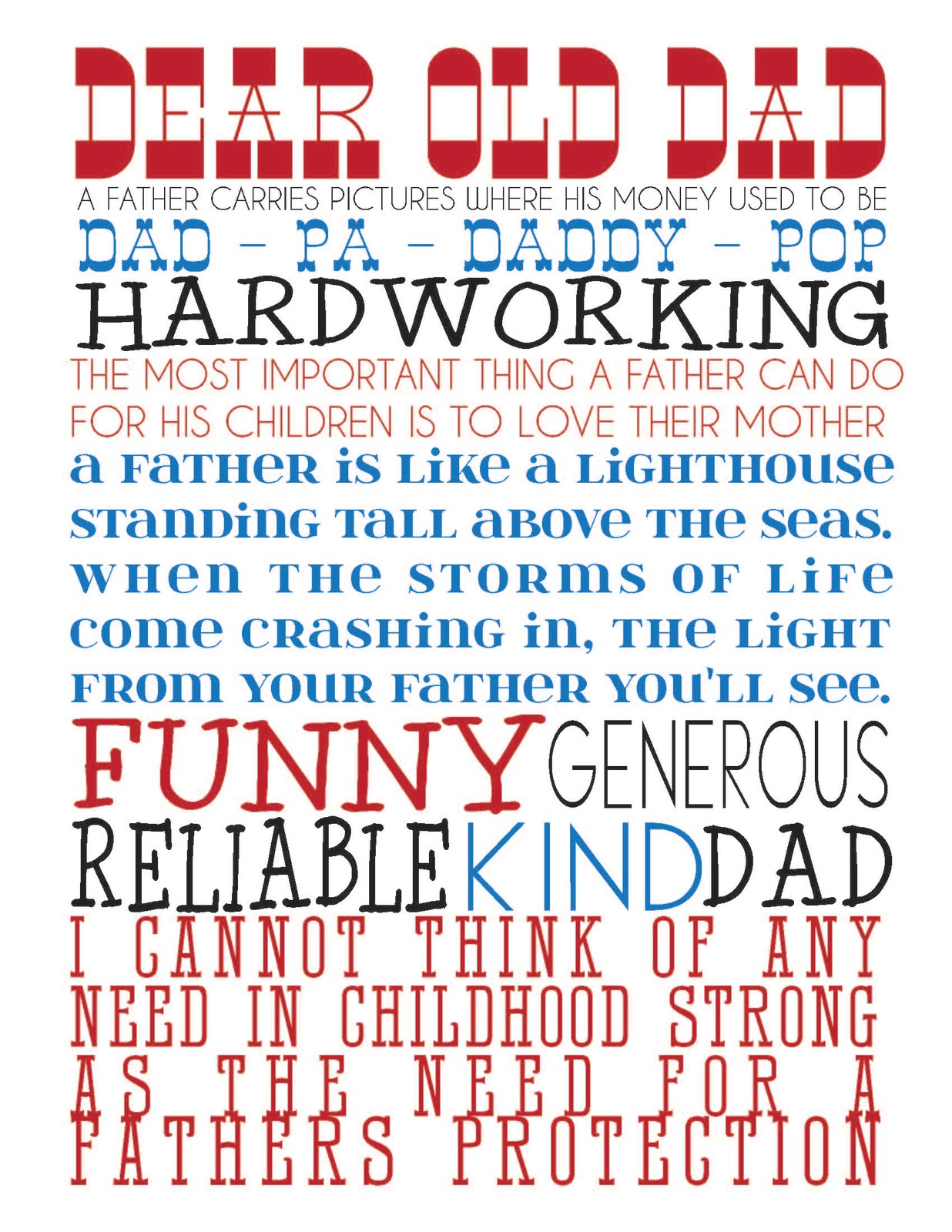 It's just a picture of Impeccable Free Father's Day Printables