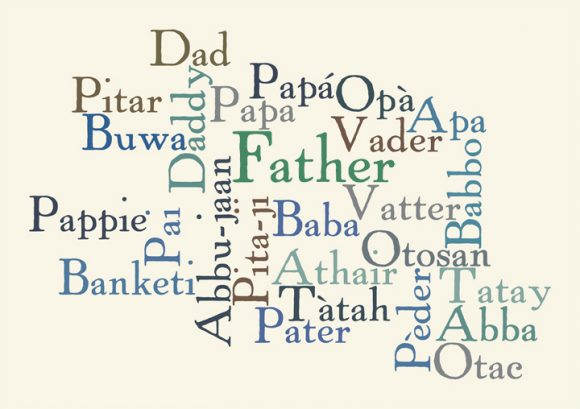 Father Wordle Art