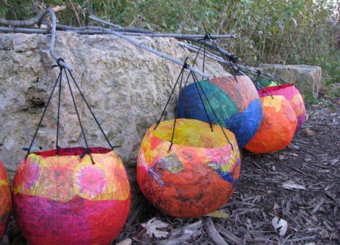 balloon paper lanterns