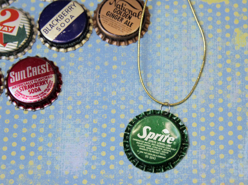 Make a bottle cap necklace dollar store crafts for How to make bottle cap crafts