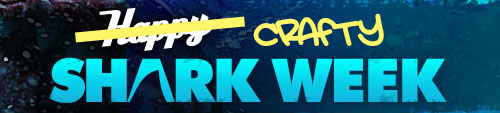 crafty shark week at DollarStoreCrafts.com
