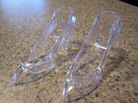 glass slipper wedding favor