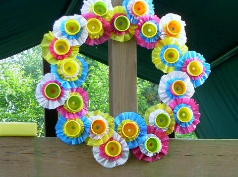 playdough container wreath