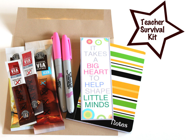 Teacher Survival Kit by Modern Parents Messy Kids Pencil-filled Etched ...
