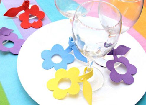 craft foam wine glass charms