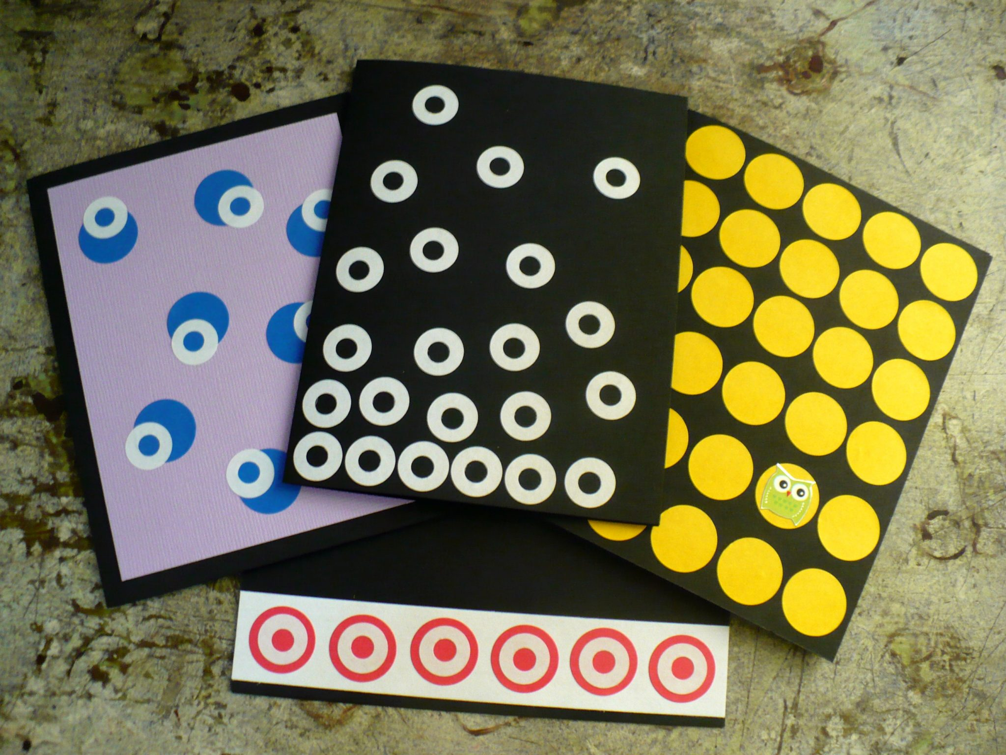 Make Easy Polka Dot Greeting Cards Dollar Store Crafts