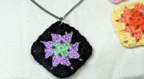 granny square necklace