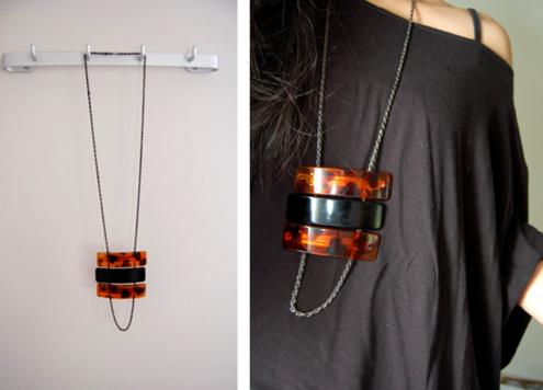 mod barrette necklace