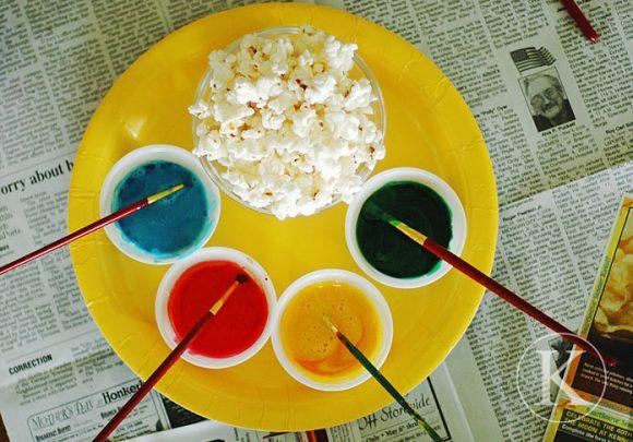popcorn painting activity