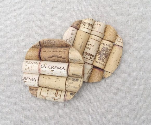 Make wine cork coasters dollar store crafts for Cork coasters for crafts