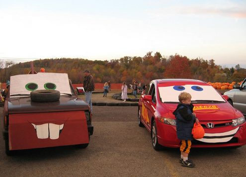 cars themed trunk or treat
